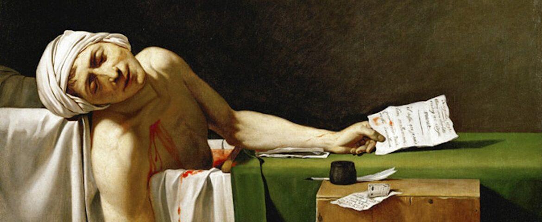 La muerte de Marat, de Jacques-Louis David