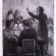 Ilustración: Abraham Vigo, Oradora femenina