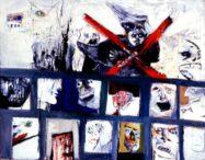 Ilustración: Luis Felipe Noé, Cerrado por brujería, 1963