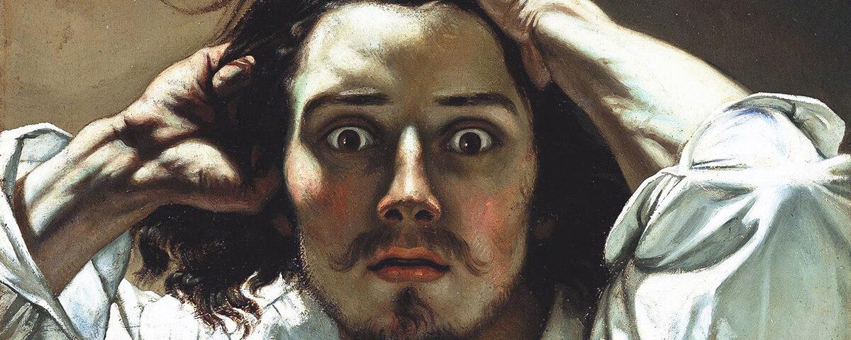 Gustave Courbet, Autorretrato.