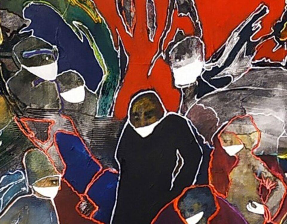 Ilustración: A cara tapada (detalle), Luis Felipe Noé.