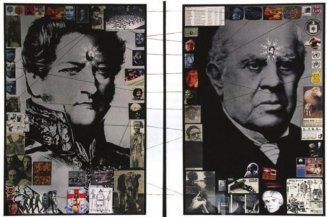 Eduardo Molinari: Collage de la serie Civilización o barbarie.
