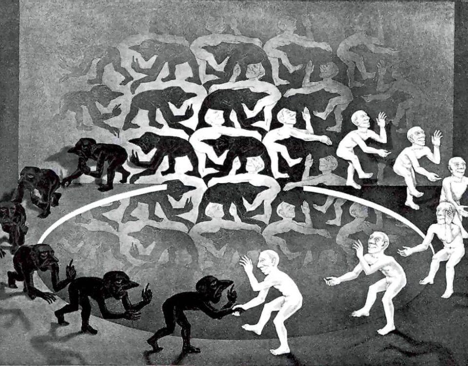 M. C. Escher Encuentro, 1944.