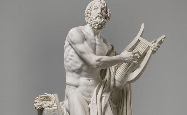 Homero. Por Philippe Laurent Roland-Museo del Louvre.