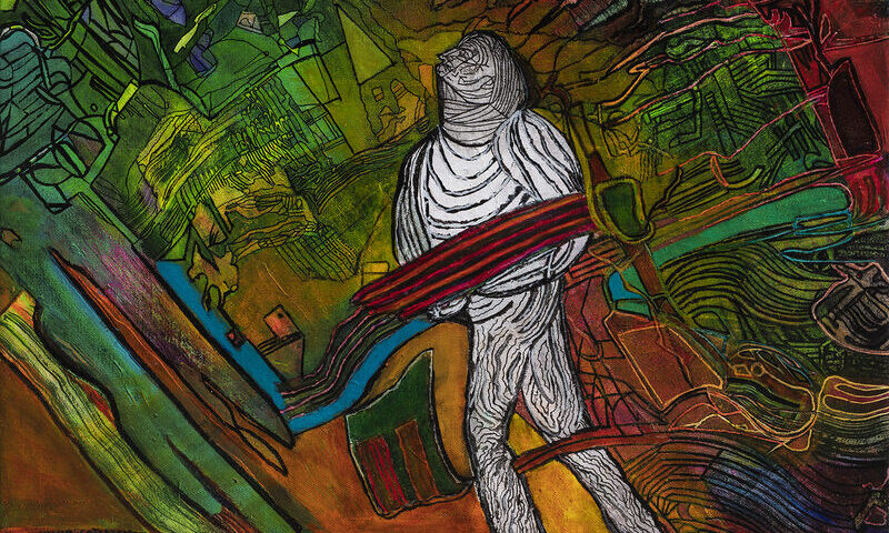 Ilustración: Luis Felipe Noé. Vivir cotidiano (2020)