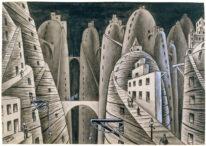 Ilustración: Ciudad y abismos. Xul Solar.