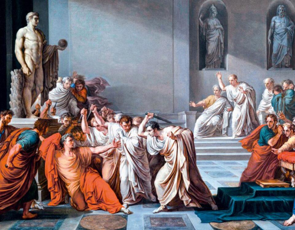 'El asesinato de César', pintado por Vicenzo Camuccini en 1804.