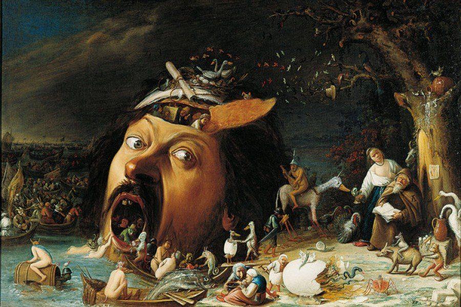 Las tentaciones de San Antonio (1650), Joos Van Craesbeeck.